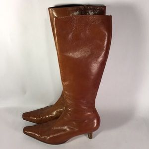 Shoes - Italian Cognac Leather Boots